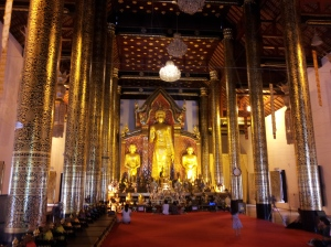 Inside a temple in Chang Mai