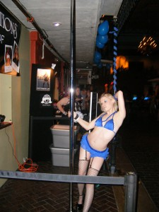 Just a pretty girl on a stripper pole...