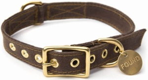 a-dog-collar-brown-gold