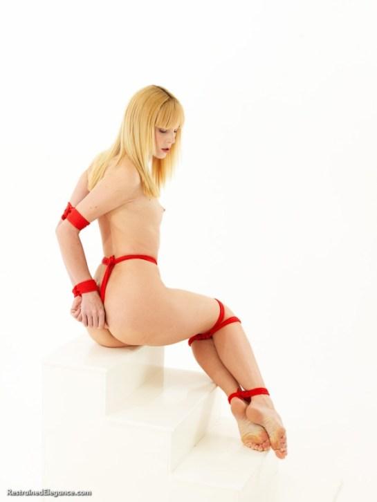 Ariel Anderssen in Classic Damsel bondage position